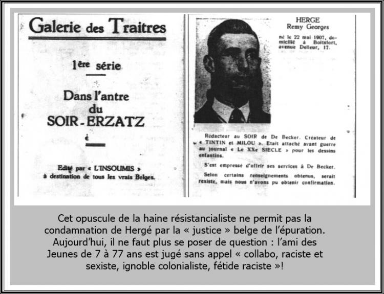 hergé,léon degrelle,nouvel observateur,abbé wallez,le vingtième siècle